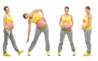 Живот на 27 неделе беременности